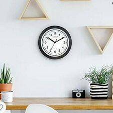 "10"" Automatic Self-Setting Wall Clock, Extremely Accurate, White/Black, New."