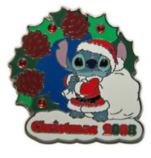 Disney Pin 66558 Santa Stitch Christmas 2008 Japan LE 1000 on Card JDS Store HTF