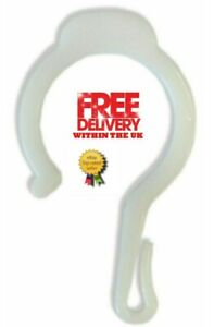 Pack of 8 Hidden Curtain Hooks, Add Lining to eyelet curtains