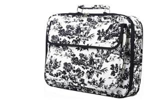 "17"" Laptop Bag Travel Briefcase Organizer W/Shoulder Strap Womens Romantic Style"