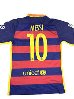 Barcelona Lionel Messi #10 Nike Unicef Home Jersey Adult SOCCER FOOTBALL Size S