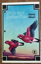 BIRDS AND BUTTERFLIES Stamp Album  USPS 1974 SCOTT With 40 Stamps