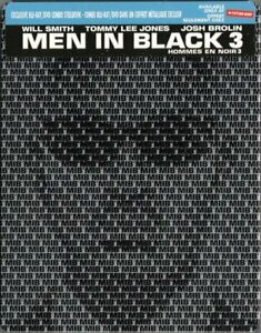 Men in Black 3 Blu-ray Movie [Sony Pictures PG-13 Action Comedy Steelbook] NEW