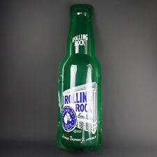 """ROLLING ROCK Plastic BEER BOTTLE Tavern Bar Sign Large 39"""" by 11"""" Wide"""