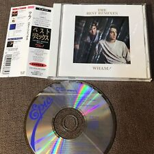 Wham! The Best Remixes Japan Cd 25.8P-5181 w/Obi 1989 issue George Michael FreeS