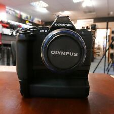 Used Olympus E-M5 Body + Grip + 14-42mm MSC R II Lens (4399 actuations) - 1 YEAR