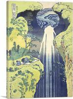 Amida Falls Far Reaches of Kisokaido Road Canvas Art Print Katsushika Hokusai