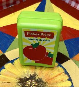 FISHER PRICE Play Food Replacement APPLE JUICE BOX Tikes Pretend Kitchen FPR-AJ