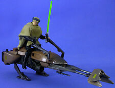 STAR WARS POTF DELUXE LOOSE RARE SPEEDER BIKE WITH LUKE SKYWALKER IN ENDOR GEAR.