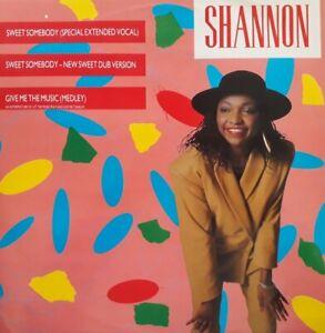 """Shannon-Sweet Somebody Vinyl 12"""" Single.1984 Emergency JABXR 3."""