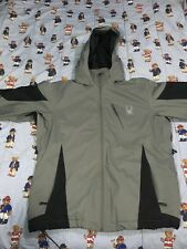 Grey and Black Spyder Brand Weather Resistant Winter Coat