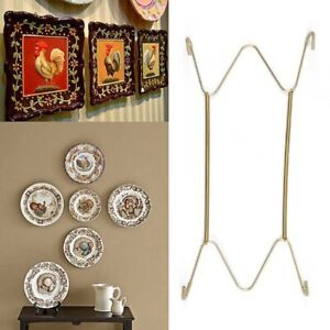 Stainless Steel Plate Hangers Wall Mounted Gold Plates Display Rack Holder