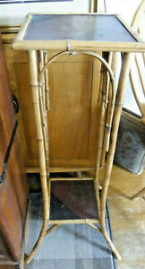 Victorian Bamboo Plant Stand , Original . Assist Courier