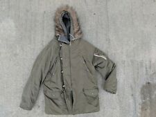 Abercrombie & Fitch Type A Fur Lined Hooded Green Parka Medium Large Army