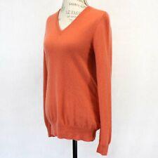 J. Crew 100% Cashmere Knit Soft Warm Coral V-Neck Sweater Medium