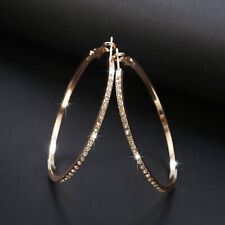 Elegant 925 Silver,Gold,Rose Gold Hoop Earrings for Women Jewelry A Pair/set
