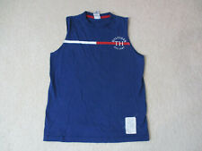 127efad8 VINTAGE Tommy Hilfiger Tank Top Shirt Adult Small Blue Red Spell Out Mens  90s