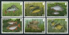 Jersey 2010 MNH Nature Freshwater Fish Roach Perch Tench 6v Set Fishes Stamps