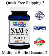 SAM-e Nervous System, Mood & Joint Support Maximum Strength 1500mg 180 caps NEW!