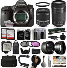 Canon 6D cámara DSLR con/18-55mm IS II + 55-250mm STM Objetivo+Premium 128GB Kit