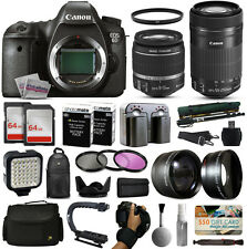 Canon 6D DSLR Camera w/ 18-55mm IS II + 55-250mm STM Lens + Premium 128GB Kit