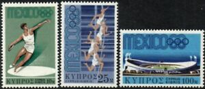 (Ref-15231) Cyprus 1968 Olympic Games  Mexico  SG.324/326 Mint (MNH)