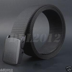 Fashion Wild Men Canvas Belt Hypoallergenic Metal-free Plastic Automatic Buckle