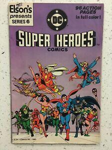 DC Super Heroes Comics 6 Elson's Presents Promo 1980 F/VF Batman Superman JLA