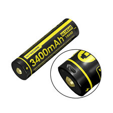 NITECORE - NL1834R 3400mAh High-Drain 18650 Battery - USB Charging Port - 3.6V