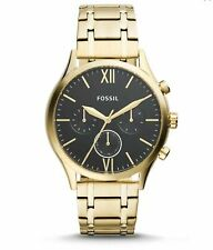 Fossil bq2366 Gurgel Midsize Multifunktions Goldfarbene Edelstahl Armbanduhr Neu