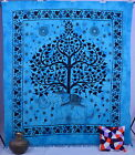 Indian Elephant Tapestry Tree of Life Hippy Coverlet Dorm Bedspread Wall Hanging
