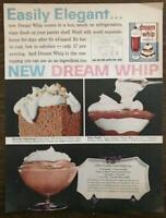 1961 Dream Whip Dessert Topping Mix Print Ad Parfait Mousse Gingerbread Elegant