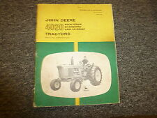 John Deere 4020 Row Crop Tractor Owner Operator Manual User Guide OMR44920