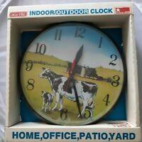 """New Vintage acurite outdoor clock 1991 US made weatherproof diameter 12 1/2 """""""