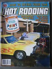 Popular Hot Rodding Magazine 25th Anniversary April 1987 {Paint Your Car}