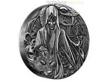 2 $ Dollar Norse Gods Loki High Relief Tuvalu 2 oz Silber 2016