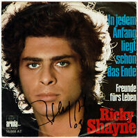 """RICKY SHAYNE   In jedem Anfang liegt schon das Ende - 7"""" Single, Hülle SIGNIERT!"""