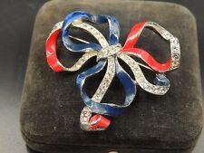 Vintage CROWN TRIFARI 1940 PAT 120560 Joseph WUYTS Patriotic Bowknot Bow Signed