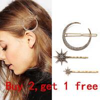 Ladies Girls Geometric Metal Hair Clips Barrette Slide Grips Hair Clip Hairpins