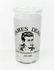 Rare 1980 JAMES DEAN FROSTED DRINKING GLASS Fairmount Indiana BRAND NEW!