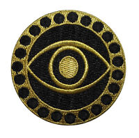"""Doctor Who Police Box Tardis in Circled Border 4/"""" Wide Embroidered PREMIUMPatch"""