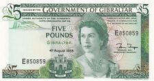 More details for p21b gibraltar 1988 five pounds banknote in crisp mint condition