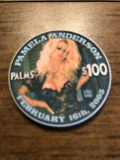 $100 palms pamela anderson playboy las vegas nevada  casino chip super rare