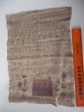 Antique Victorian Sampler 1872