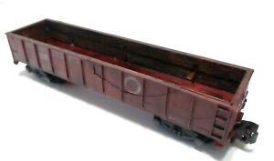 American Flyer s gauge Gondola Pennyslvania (24110) been weatherd , see pictures