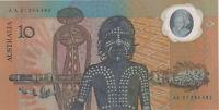 1988 Australia $10 AA21 banknote Johnston Fraser Polymer in Commemorative folder