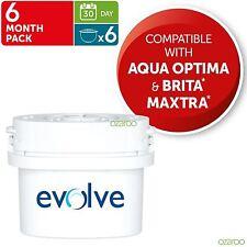 6x Aqua Optima Evolve 30-day Agua Jarra recambio FILTROS DE CARTUCHO - 6 mes