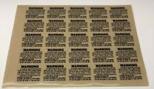 "Full Size Football Helmet Warning Label Decal Gold 20 Mil 1.5/"" By 1/"""