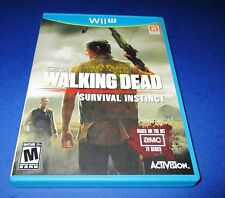 The Walking Dead Survival Instinct Wii U *New (Missing Cellophane) *Free Ship!