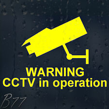 Warning CCTV In Operation Vinyl Sticker For Shops Pubs Hotels Cafes Offices Bars